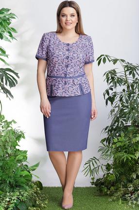 Комплект юбочный LeNata 21999 синий с розовым