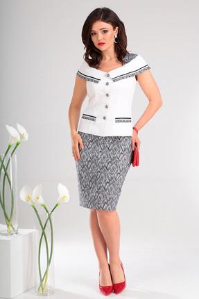 Комплект юбочный Мода-Юрс 2022 белый с черным