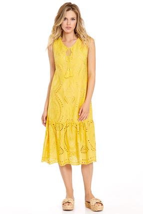 женское повседневные платье pirs, желтое