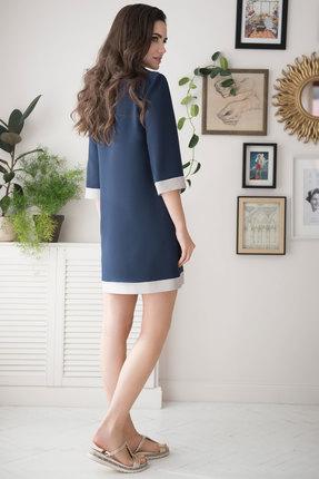 Фото 3 - Платье ЮРС 19-182-1 темно-синий темно-синего цвета