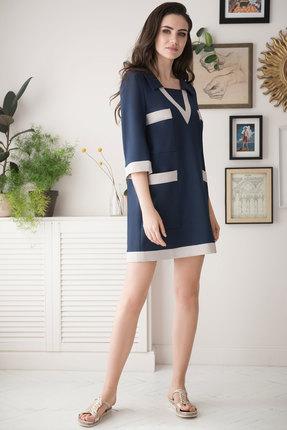 Фото - Платье ЮРС 19-182-1 темно-синий темно-синего цвета
