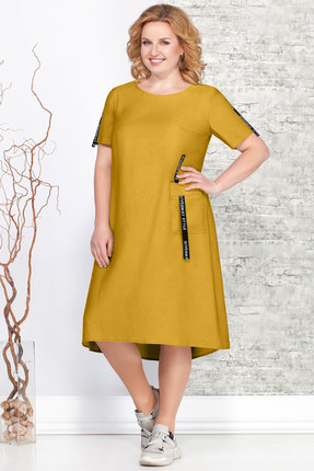 Фото - Платье Ivelta plus 1643 горчица цвет горчица