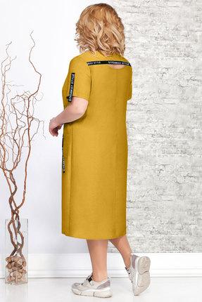Фото 2 - Платье Ivelta plus 1643 горчица цвет горчица