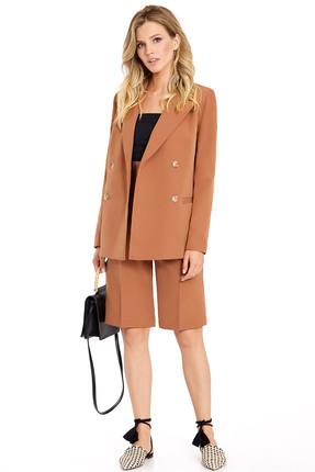 Комплект с шортами PIRS 734 светло-коричневые тона