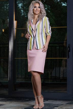 Комплект юбочный DilanaVIP 1350 пудровый с цветным