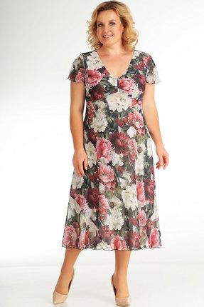 Платье СлавияЭлит 428 бордо