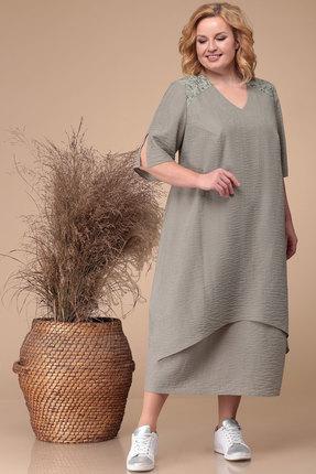 Фото - Платье Линия-Л Б-1732 оливковый оливкового цвета