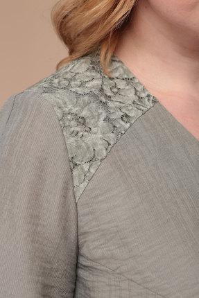 Фото 2 - Платье Линия-Л Б-1732 оливковый оливкового цвета