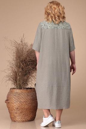 Фото 4 - Платье Линия-Л Б-1732 оливковый оливкового цвета