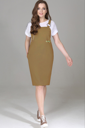 Купить Платье Магия Моды 1222 светло-коричневые тона цвет светло-коричневые тона