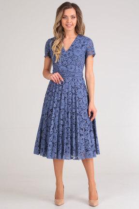 Фото 2 - Платье SandyNa 13590 синий синего цвета