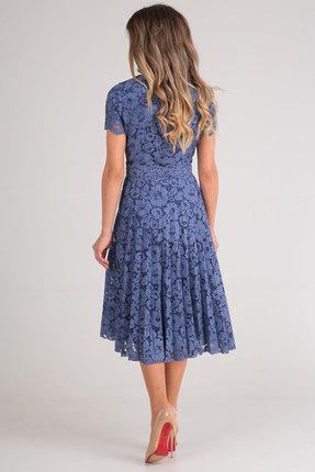 Фото 3 - Платье SandyNa 13590 синий синего цвета