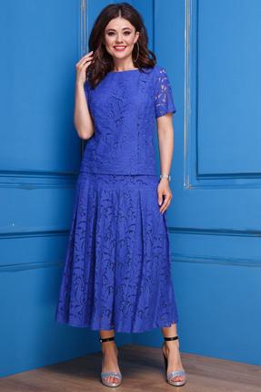 Фото 3 - Комплект юбочный Anastasia 271 василек цвет василек