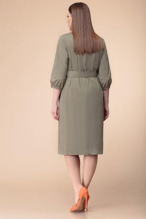 Фото 2 - Платье Anna Majewska 1188 хаки цвета хаки
