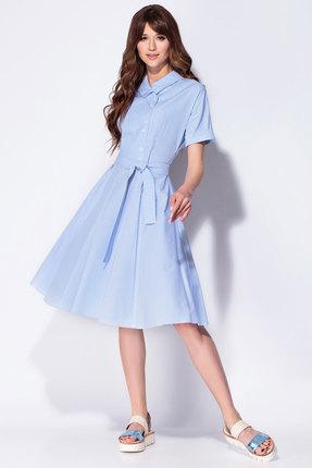 Купить Платье Anna Majewska 1197a голубой с синим цвет голубой с синим