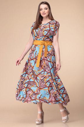 Купить Платье Anna Majewska 1874D голубые тона цвет голубые тона