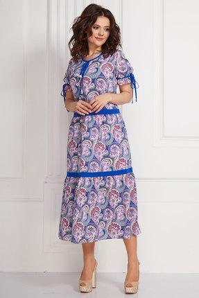 Фото - Платье Solomeya Lux 588-1 синий с узорами цвет синий с узорами