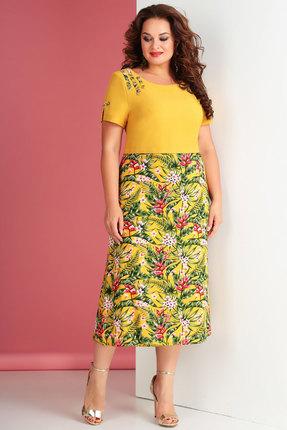 Купить Платье Ксения Стиль 1650 желтые тона цвет желтые тона