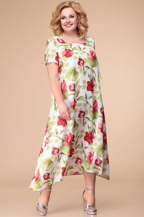 Платье Romanovich style 1-1332 молочный с красным