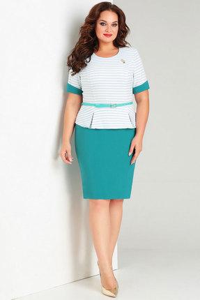 Купить Комплект юбочный Милора-Стиль 446 бирюзовые тона цвет бирюзовые тона