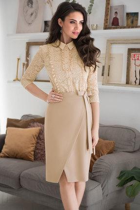 Купить Комплект юбочный ЮРС 19-870-1 бежевые тона цвет бежевые тона