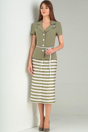 Комплект юбочный Ришелье 711 олива