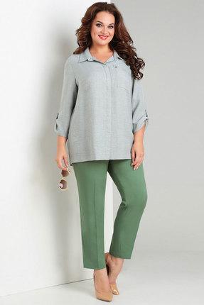 Купить Комплект брючный Милора-Стиль 704 зеленые тона цвет зеленые тона