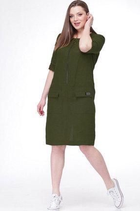 Купить Платье MALI 485 тёмный хаки цвет тёмный хаки