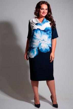 Купить Платье Axxa 55075а синие тона цвет синие тона