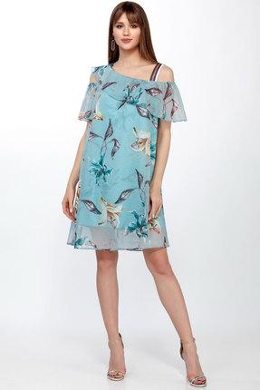Купить Платье LaKona 1225 голубая лилия цвет голубая лилия