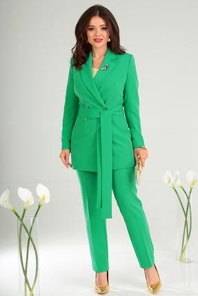 Фото 9 - Комплект брючный Мода-Юрс 2369-2 зеленый зеленого цвета