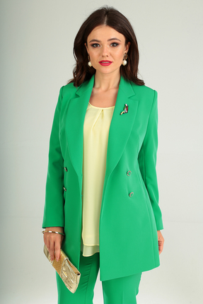 Фото 10 - Комплект брючный Мода-Юрс 2369-2 зеленый зеленого цвета