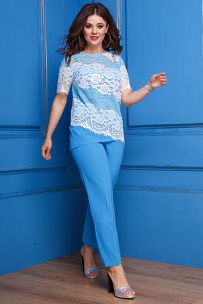 Комплект брючный Anastasia 300 светло-синий