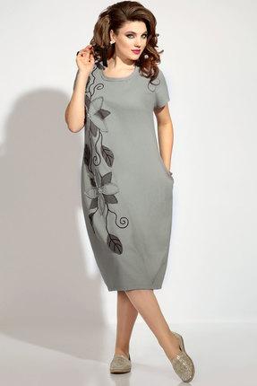 Купить Платье Vittoria Queen 8413/1 серо-зеленые тона цвет серо-зеленые тона