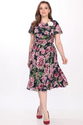 Купить Платье Elletto 1290  розовый с серым цвет розовый с серым