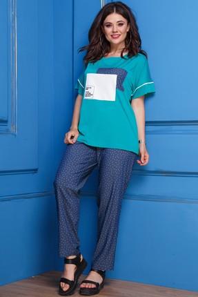 Купить Комплект брючный Anastasia 285.1 синий+зеленый цвет синий+зеленый
