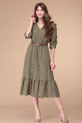 Купить Платье Verita Moda 2000 хаки цвета хаки