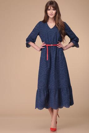 Купить Платье Verita Moda 2000 синий синего цвета