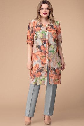 Купить Комплект брючный Svetlana Style 1233 серый с коралловым цвет серый с коралловым