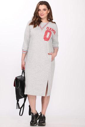 Спортивное платье Elletto 1704 серый