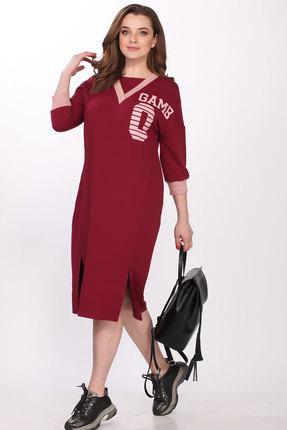 Спортивное платье Elletto 1704 бордо