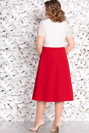 Фото 2 - Платье Mira Fashion 4645 белый+красный цвет белый+красный