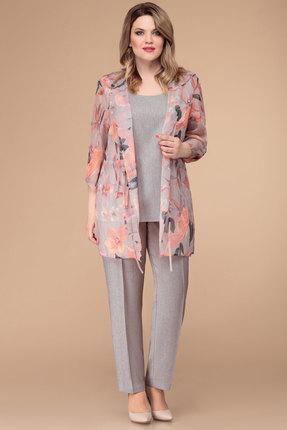 Комплект брючный Svetlana Style 1238 пудровый с серым