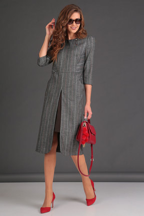 Комплект юбочный Viola Style 2616 серый с коричневым