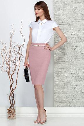 Комплект юбочный Ivelta plus 2476 белый с розовым