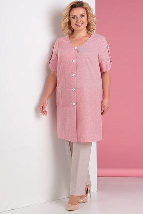 женский брючный костюм algranda, розовый