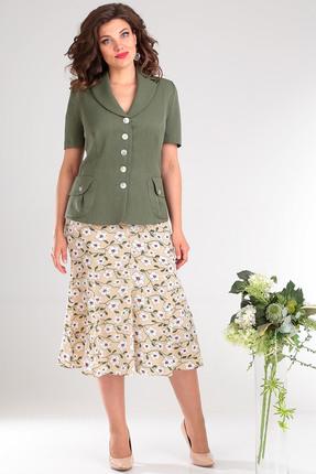 Комплект юбочный Мода-Юрс 1741 зеленый