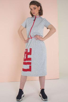 Спортивное платье Elletto 1699 серый