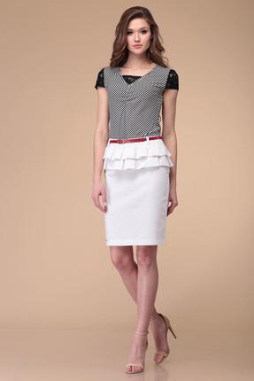 Комплект юбочный Verita Moda 337 черно-белый