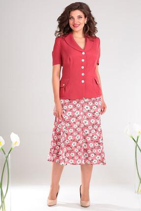 Комплект юбочный Мода-Юрс 1741 коралловый